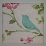 Clarke & Clarke Bird Trail Ceramic Wall Tiles Rose